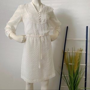Kensie Off White 3/4 Sleeve Dress